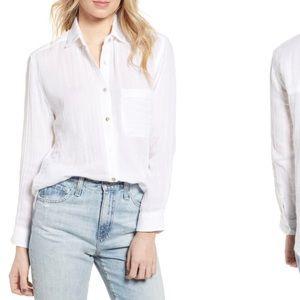 Rails Ellis cotton shirt white button down small
